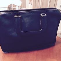 Vintage Coach Navy Blue Handbag Photo