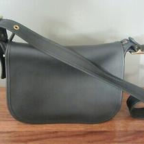 Vintage Coach Navy Blue Leather Patricia Legacy Shoulder Crossbody Bag 9951 Photo