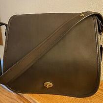 Vintage Coach Nyc Dark Brown Stewardess Shoulder Bag 9525 Photo