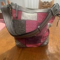 Vintage Coach Patchwork Silver Pink Purse/bag Photo