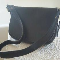 Vintage Coach Patricia Messenger Bag Medium Blk Leather Made in Usa Photo