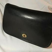 Vintage Coach Penny Shoulder Bag Black Leather Made in Usa Photo