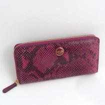Vintage Coach Puce Faux Snakeskin Purse Wallet Photo