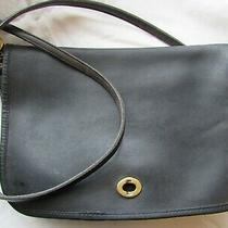 Vintage Coach Purse 966-0518 Cross Body Satchel Black Leather Bag New York City Photo