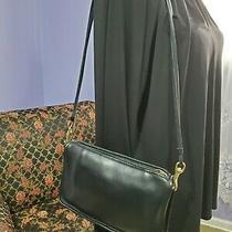 Vintage Coach Purse Crossbody Shoulder Bag Black Leather 079-1728 Photo