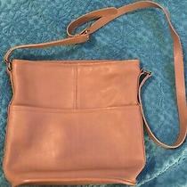 Vintage Coach Purse-Medium Taupe Beige Shoulder Bag. Photo
