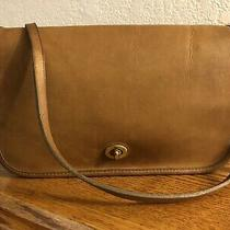 Vintage Coach Putty Brown Convertible Clutch Shoulder Bag Nyc 9635 Photo