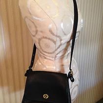 Vintage Coach Rambler Usa Black Glove Tanned  Leather Crossbody Handbag 9061 Photo