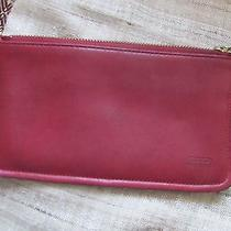 Vintage Coach Red Leather Handcrafted Rectangular Pouch Photo