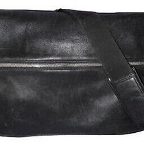 Vintage Coach Shoulder Laptop Bag Black Leather Work Briefcase Messenger  Photo