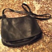 Vintage Coach Slim Hippie Flap Messenger Saddle Bag 9134 Black Leather Crossbody Photo