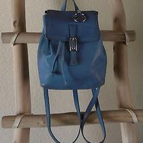 Vintage Coach Small Classic Retro Legacy Sky Blue Leather Back Pack Photo