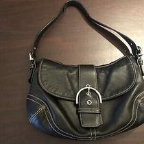 Vintage Coach Soho Black Leather Handbag Purse Shoulder Bag Photo