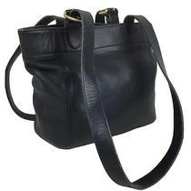 Vintage Coach Soho Buckle Bag Tote 4157 Faded Black Leather Purse Usa Photo