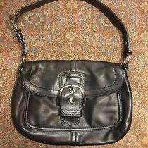 Vintage Coach Soho Buckle Black Leather Shoulder Bag. Mint Condition Photo