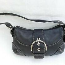 Vintage Coach Soho Flap Hobo Mini Shoulder Bag Purse Black Leather Photo