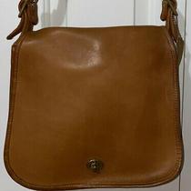 Vintage Coach Stewardess Med Brown Leather Shoulder Saddle Bag Messenger Nyc Evc Photo