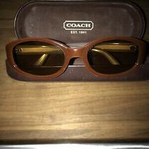 Vintage Coach Sunglasses With Case Made in Italy Photo