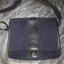 Vintage Coach Transatlantic Blue Canvas Messenger Bag-6411 Photo