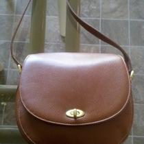 Vintage Coach Womans Purse Handbag Brown Leather Photo