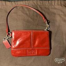 Vintage Coach Womens Small Red Wristlet Handbag Photo