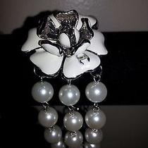 Vintage Coco Chanel Camelia With Faux Pearls Bracelet Mark on Camelia  Photo