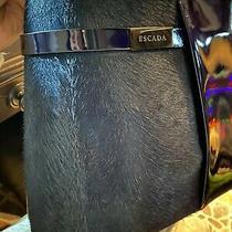 Vintage Collectible Rare Authentic Blue Escada Blue Horse Hair Shoulder Purse Photo