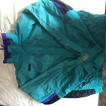 Vintage Columbia Bugaboo Radial Sleeve Ski Jacket Size L Teal Black Purple 90s Photo