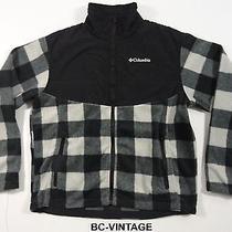 Vintage Columbia Colorblock Checker Plaid Fleece Jacket Sportsman Outdoors 25088 Photo