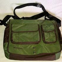 Vintage Columbia Messenger Bag Green and Brown Nylon Photo