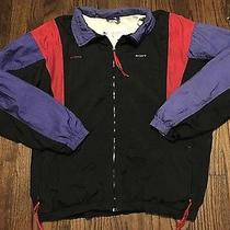 Vintage Columbia Nylon Track Windbreaker Jacket W/ Lining Sony Embroidered Sz L Photo