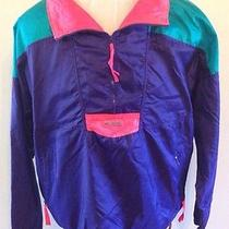 Vintage Columbia Pullover Windbreaker Jacket Radial Sleeve Mens Xl Neon Photo