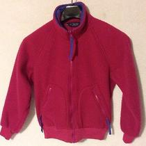 Vintage Columbia Small Radial Sleeve Womens Pink Fleece Jacket Full Zip Photo