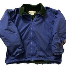 Vintage Columbia Sportswear Blue Jacket Size Large Green Inside Fleece Usa Photo