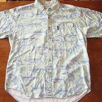 Vintage Columbia Swordfish Shirt  Soft Rayon   Sea Green   Medium  Free Shipping Photo