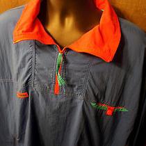 Vintage Columbia Xl Radial Sleeve 1/2 Zip Nylon Pullover Wind Jacket Parka Coat  Photo