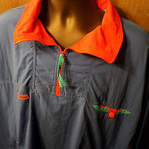 Vintage Columbia Xl Radial Sleeve 1/2 Zip Nylon Pullover Wind Jacket Parka Coat  Photo