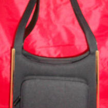 Vintage Comeco Black Nylon & Gold Trim Handbagpurse  - Euc Photo