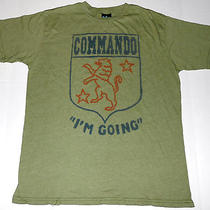 Vintage Commando i'm Going T Shirt 50/50 M Medium Junk Food Made in Usa Photo