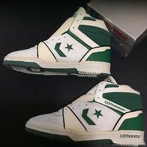 Vintage Converse n.b.a. League Mens Hitop Sneakers Nos Sz 13 Wht/green/blk Photo