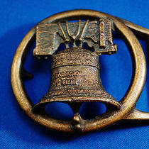 Vintage Copper or Bronze American Heritage Liberty Bell Patriotic Belt Buckle Photo