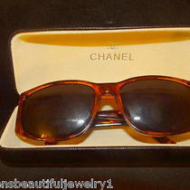 Vintage Couture Authentic Coco Chanel Sunglasses W/case Tortise Italyestate Photo