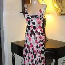 Vintage Couture Escada Silk Cowl Neck Polka Dot Dress / 38 Photo