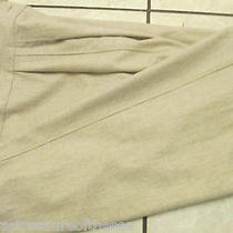 Vintage Couture Womans Sz 42  6 Ganni Versace Peg Cream Wool Slacks Dress Pants Photo