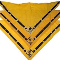 Vintage Cub Scout Neckerchief Bandana Lot of 3 Yellow Gold Wolf Bsa Scarf Mask Photo