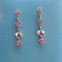 Vintage Dangle Earrings  Lt Amethyst Swarovski Crystal Earrings E1235a Photo
