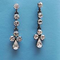 Vintage Dangle Earrings Swarovski Crystal Earringse1262 Photo