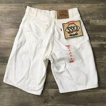 Vintage Deadstock Orange Tab Levis 550 Shorts White 28 Levis 28x0 Photo