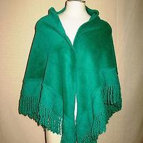 Vintage Designer Jeanne Lanvin 1960's Kelly Green Shawl Wrap  Photo