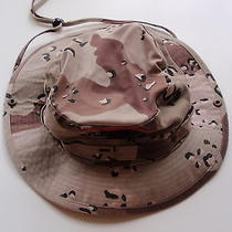 Vintage Dhl Worldwide Express Afghanistan Camouflage Hat Outdoor Wide Brim Strap Photo